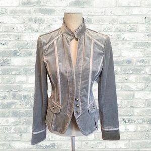 🆕 WHBM Velvet Ruffle & Pleated Blazer
